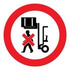 verboden onder de last te lopen sticker