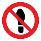 verboden te betreden sticker
