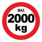 max 2000 kg sticker