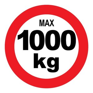 "pictogram ""max 1000 kg"" sticker"