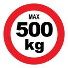 max 500 kg sticker