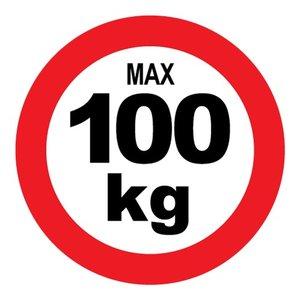 "pictogram ""max 100 kg"" sticker"