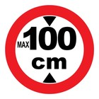 max 100 cm sticker