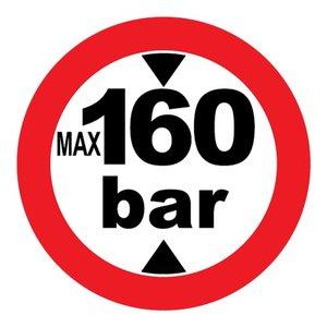 "pictogram ""max 160 bar"" sticker"