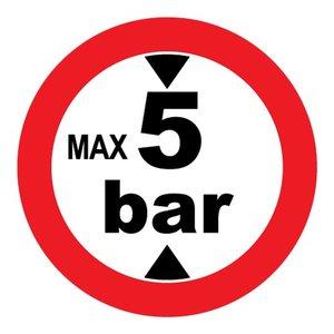 "pictogram ""max 5 bar"" sticker"