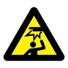 Stootgevaar sticker