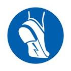 antistatisch schoeisel verplicht sticker