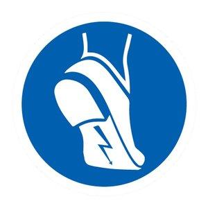 """pictogram """"antistatisch schoeisel verplicht"""" sticker"""