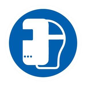 """pictogram """"lasmasker verplicht"""" sticker"""