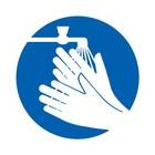 handen wassen verplicht sticker