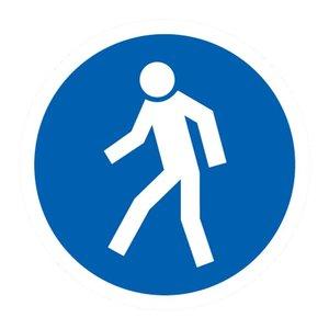 "pictogram ""verplichte doorgang voetgangers"" sticker"