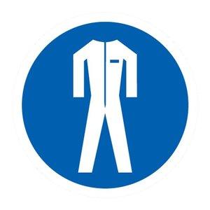 "pictogram ""beschermende kledij verplicht"" sticker"