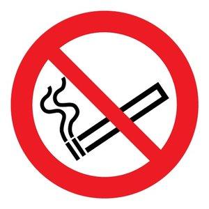 """pictogram """"verboden te roken"""" sticker"""