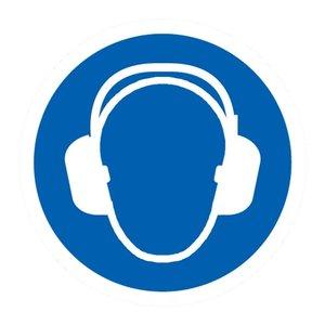 """pictogram """"gehoorbescherming verplicht"""" sticker"""