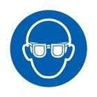 oogbescherming (veiligheidsbril) verplicht sticker