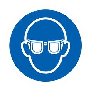 """pictogram """"oogbescherming verplicht"""" sticker"""