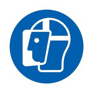 """pictogram """"gezichtsbescherming verplicht"""" sticker"""