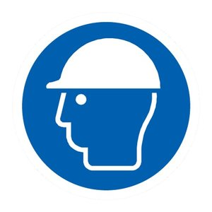 "pictogram ""helm verplicht"" sticker"