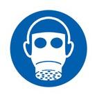 gasmasker verplicht sticker