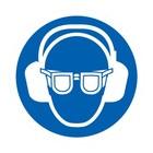 oog en oorbescherming verplicht sticker