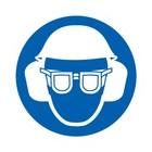 oog, oor en hoofdbescherming verplicht sticker