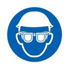 oog en hoofdbescherming verplicht sticker