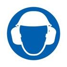 hoofd en oorbescherming verplicht sticker