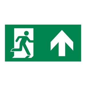 Nooduitgang sticker Vluchtwegaanduiding rechtdoor / naar boven