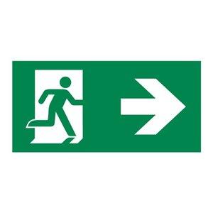 Nooduitgang sticker Vluchtwegaanduiding rechtsaf