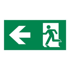 Nooduitgang sticker Vluchtwegaanduiding linksaf