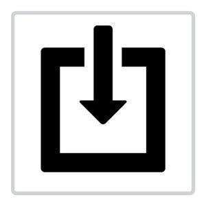 """pictogram """"ingang"""" sticker"""