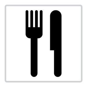 "pictogram ""kantine"" sticker"