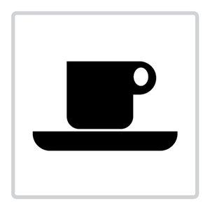"""pictogram """"cafetaria-koffiecorner"""" sticker"""