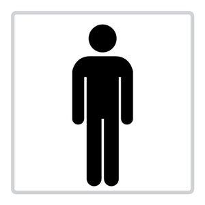 """pictogram """"toilet-mannen"""" sticker"""