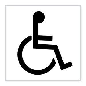 """pictogram """"toilet-rolstoelgebruikers"""" sticker"""