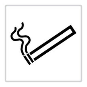 """pictogram """"roken toegestaan"""" sticker"""