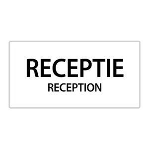 "pictogram ""receptie"" sticker"