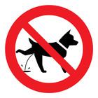 verboden voor plassende honden