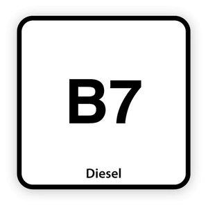 B7 brandstofsticker met uitleg (Diesel)