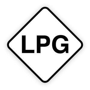 LPG brandstofsticker