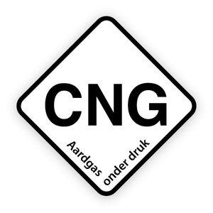 CNG brandstofsticker met uitleg