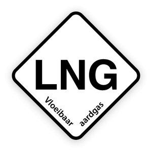 LNG brandstofsticker met uitleg