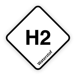 H2 brandstofsticker met uitleg