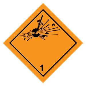 """ADR-1.0 pictogram """"explosieven"""" sticker"""