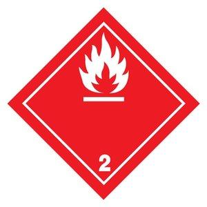 "ADR-2.1 pictogram ""ontvlambaar gas"""