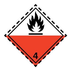 "ADR-4.2 pictogram ""kan spontaan ontbranden"""