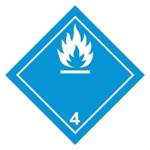 """ADR-4.3 pictogram """"gevaarlijk met water"""""""