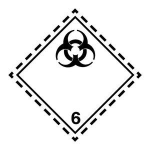 """ADR-6.2 pictogram """"besmettelijke stoffen"""""""