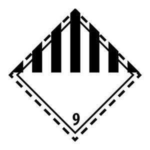 """ADR-9 pictogram """"diverse stoffen"""""""