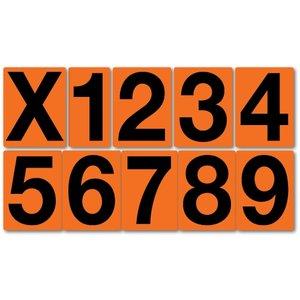 """ADR pictogram """"cijfer"""" stickers, 10 cm hoog"""